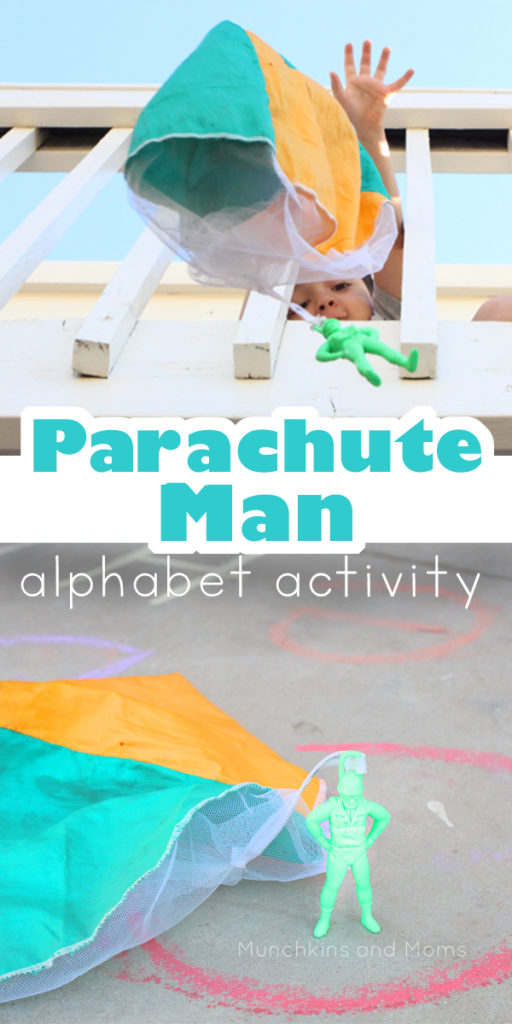 Play with a parachute man and get in alphabet practice at the same time! This fun Parachute Man Alphabet Activity is just too fun!