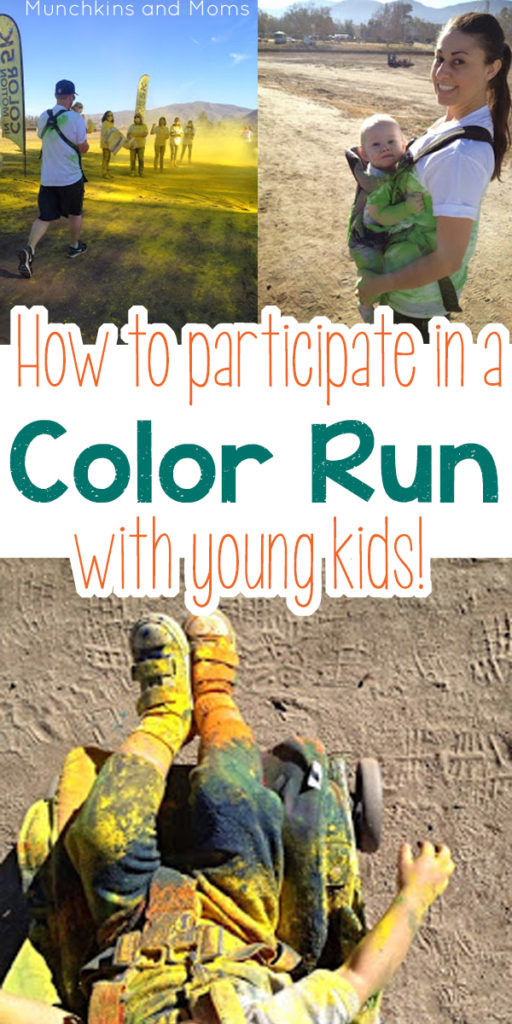 How to do a color run with a baby and toddler!
