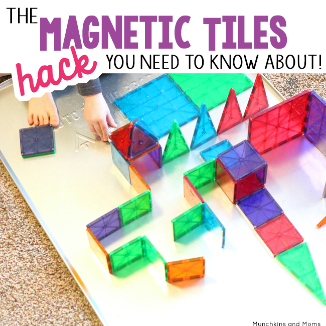 The magnetic tiles hack you need to know about! (this is great! my kids love playing with Magna Tiles!)