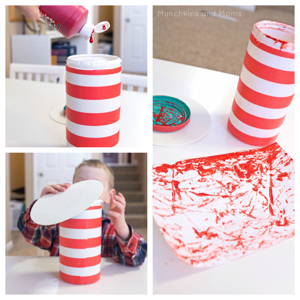 This Cat in the Hat Painting is so easy and super fun! Perfect for Dr. Seuss' birthday/ Read Across America!