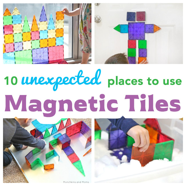 We love our Magna-Tiles! These are some creative ways I never thought to use them, though!