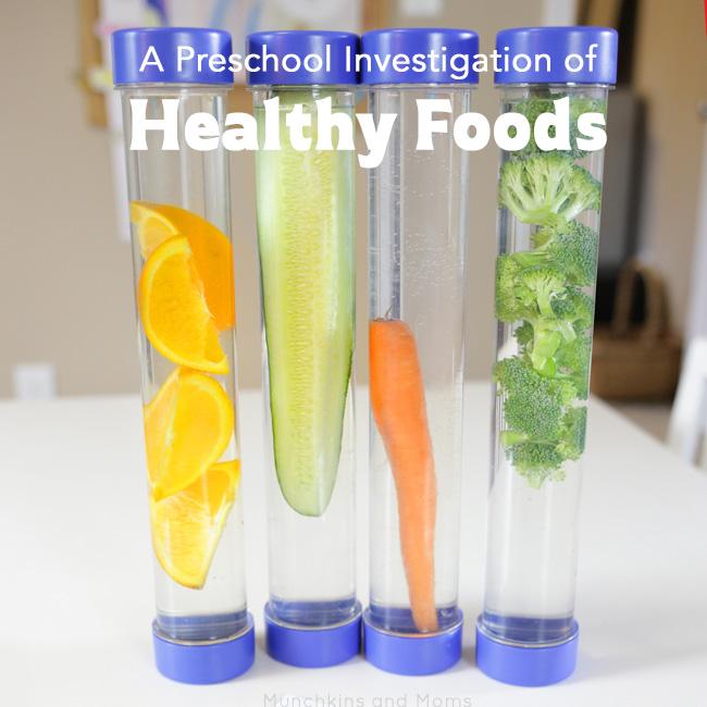 A preschool investigation of healthy foods.