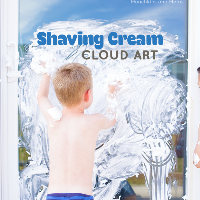Make big, messy, awesome art using just shaving cream and a sliding glass door! Great summer art activity!