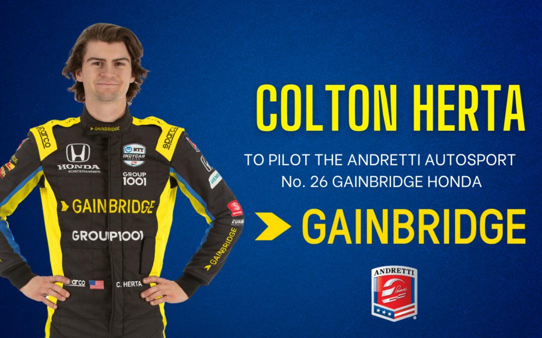 Colton Herta Named to Pilot Andretti Autosport's No. 26 GAINBRIDGE HONDA