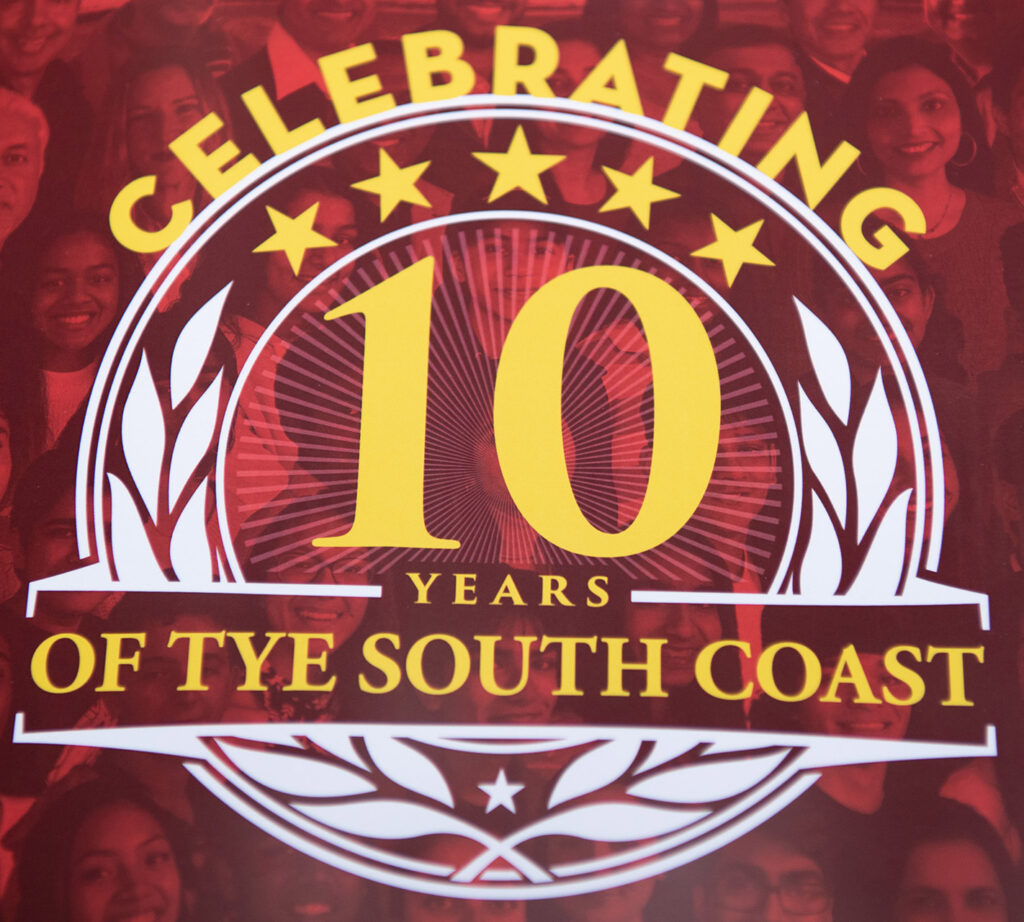 tye tenth aniversary logo