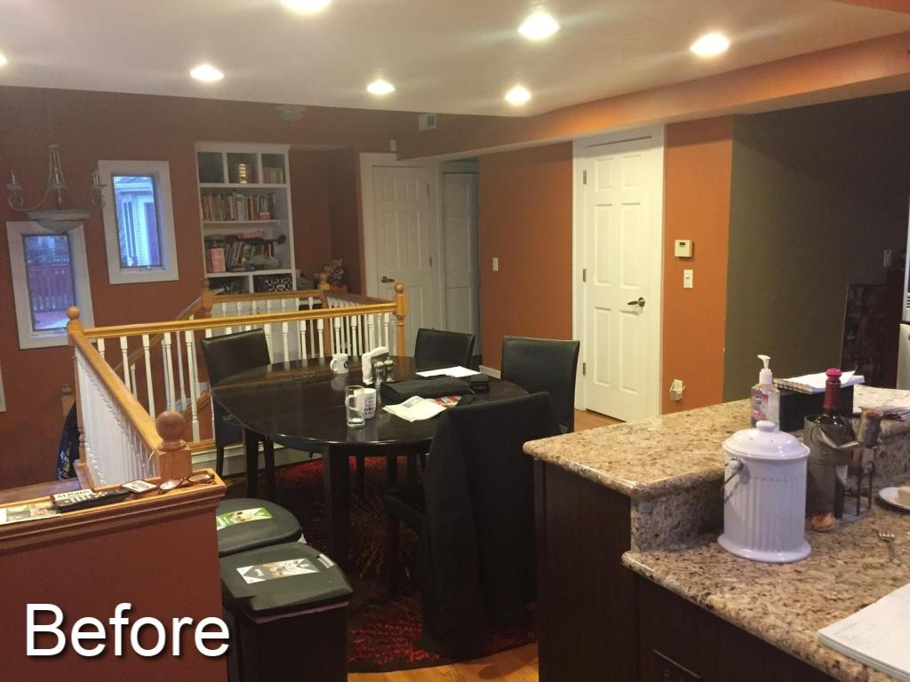 Modern kitchen remodel before