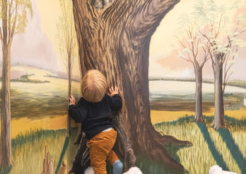 Woodland playroom mural