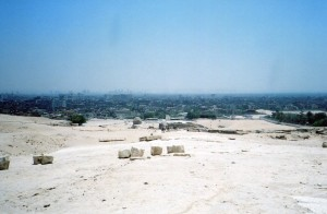 The entrance to King Khufu's eternal estate--Giza's heights ensured that he would command Egypt in the Afterlife.