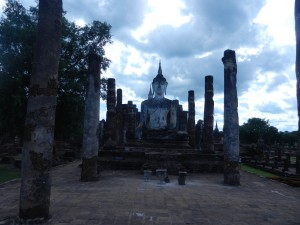 The ubosot in Sukhothai's Wat Mahathat, Thailand