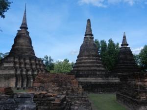 Stupas in Sukhothai's Wat Mahathat, Thailand