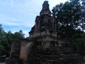 The stupa of Wat Khao Phra Bat Noi, Sukhothai, Thailand.