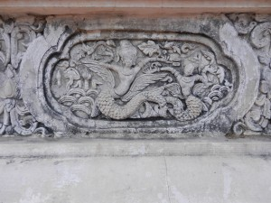 Stucco decorations on Wat Phra Singh, Chiang Mai, Thailand.