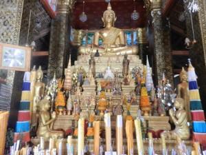 Wat That Luang's altar inLuang Prabang, Laos.