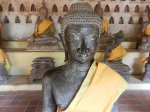 A Laotian style Buddha in Wat Si Saket, Vientiane, Laos.
