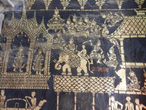 The Vessantara Jataka in Wat Xieng Thong, Luang Prabang, Laos.