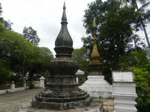 Shrines in Wat Xieng Thong, Luang Prabang, Laos.