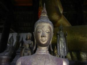 A Buddha statue in Wat Visoun, Luang Prabang, Laos.