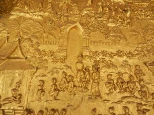 The Vessantara Jataka on Wat Mai, Luang Prabang, Laos.