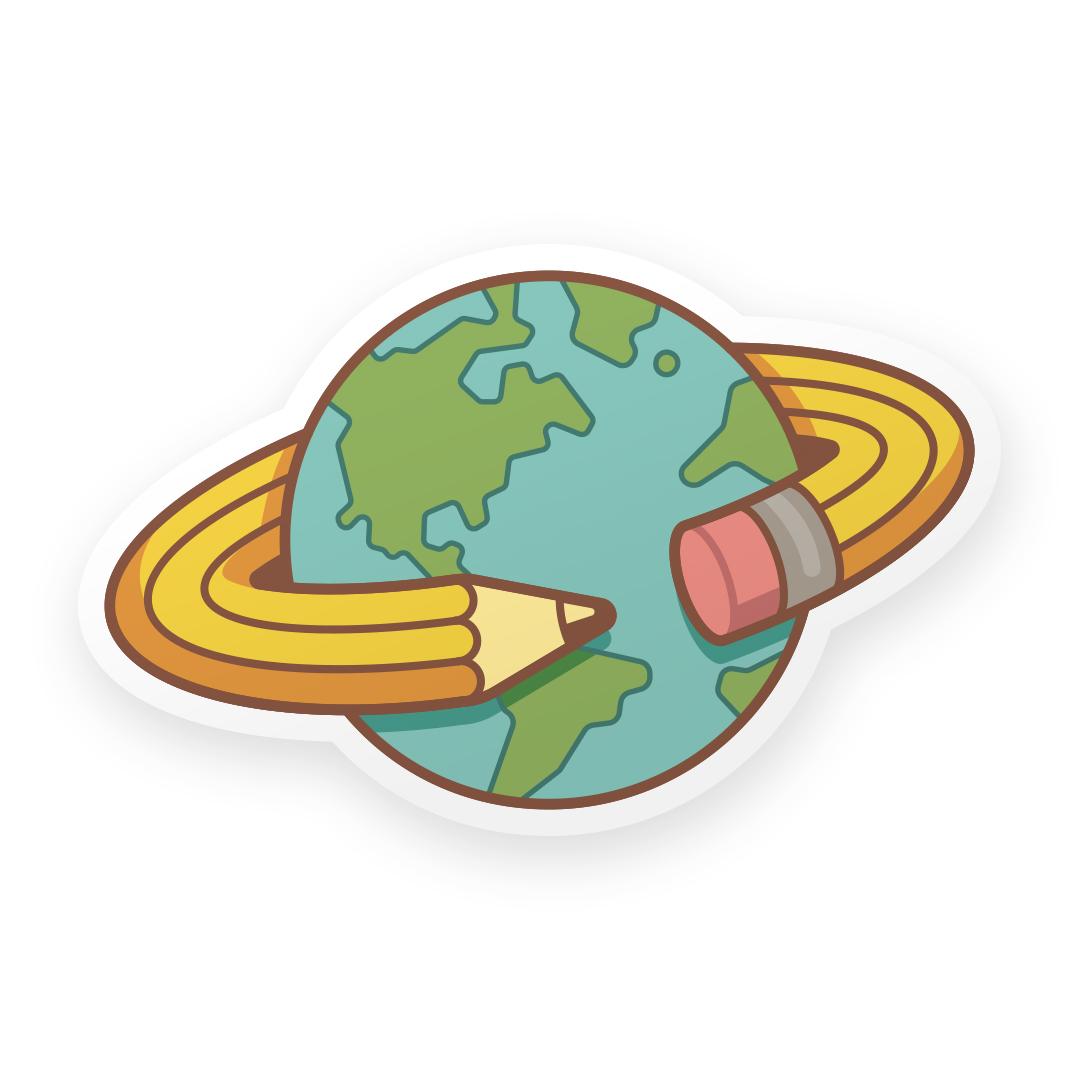 Globe-Sticker