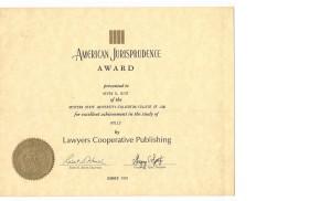 American Jurisprudence Award in Wills