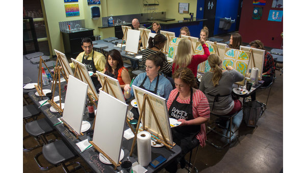 Relax with art and drinks at Pinot's Palette