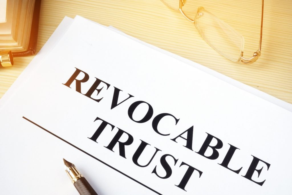 Revocable Trust typed on paper