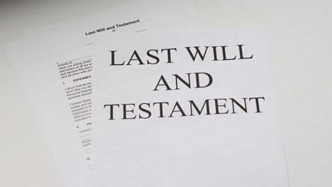 A deceased individual's last will.