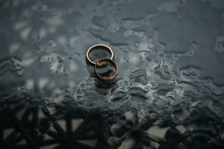two engagement rings