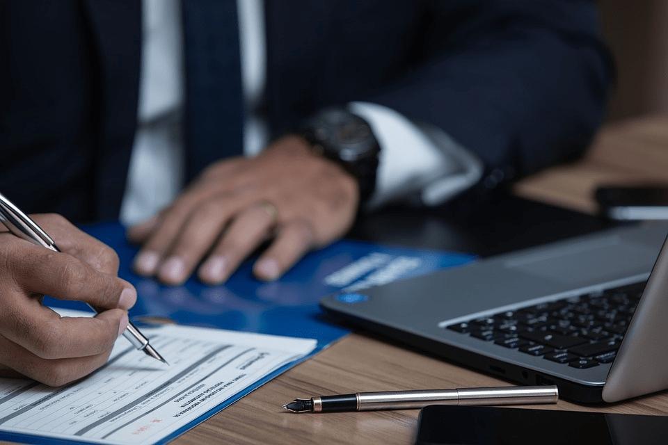 An attorney preparing an estate documentation