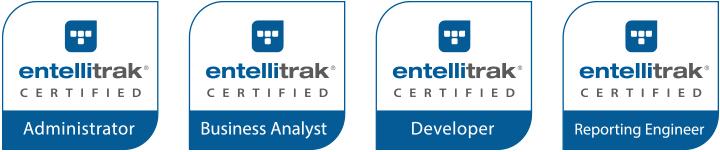 Tyler Technologies offers four certifications for Entellitrak