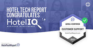 HotelIQ Achieves Global Customer Support Certification from Hotel Tech Report