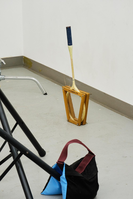 sand bag, badminton, racket, tripod
