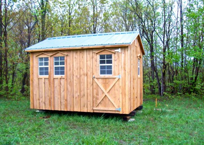 Amish Shed With A Single Door & 2 Windows