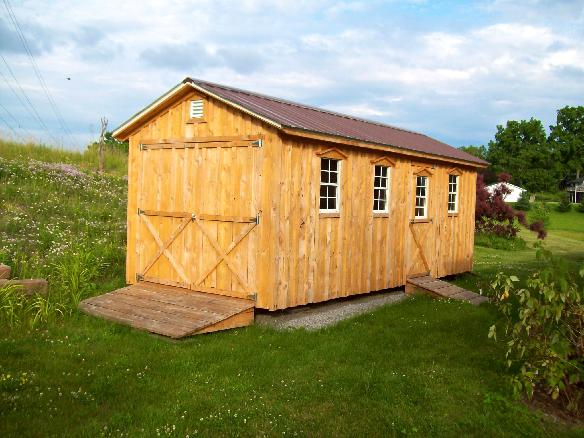 Amish Shed With Double Door & Ramp
