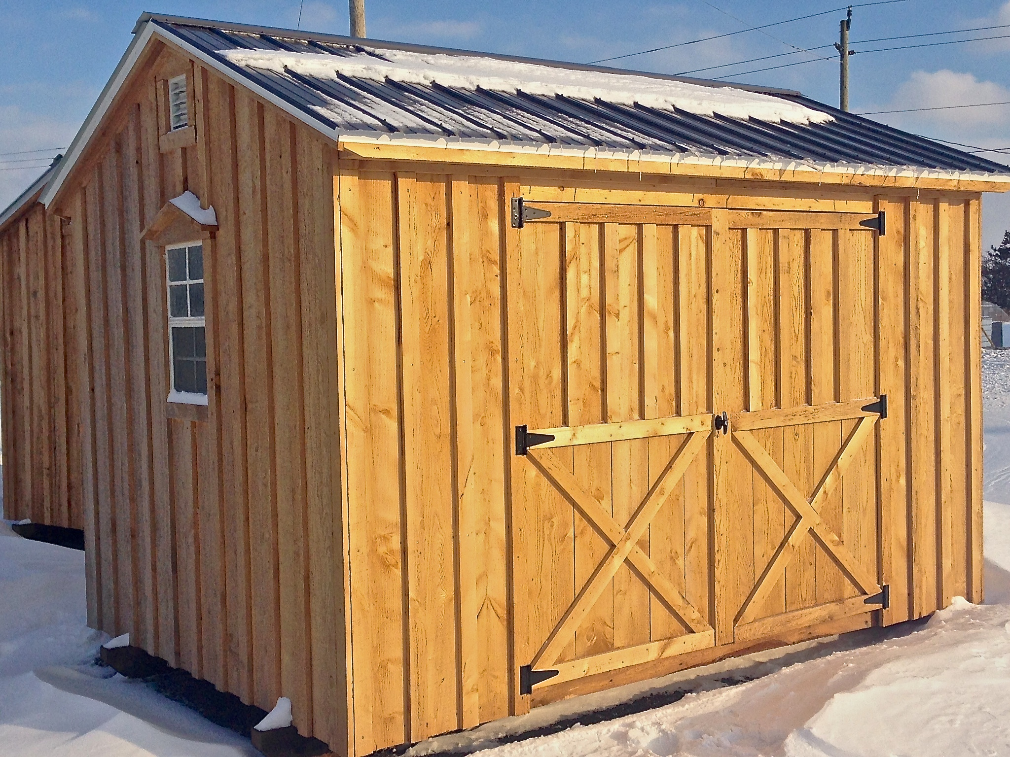 Amish Shed With Double Doors