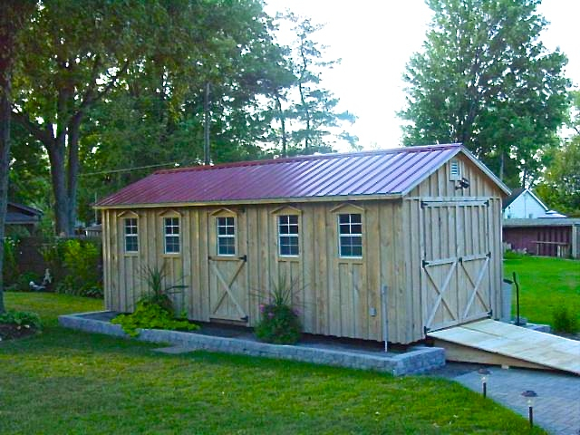 Amish Shed with red roof