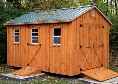 Amish Shed stained