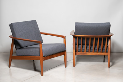 Folke Ohlsson DUX Model 72-C Pair of Lounge Chairs - SOLD