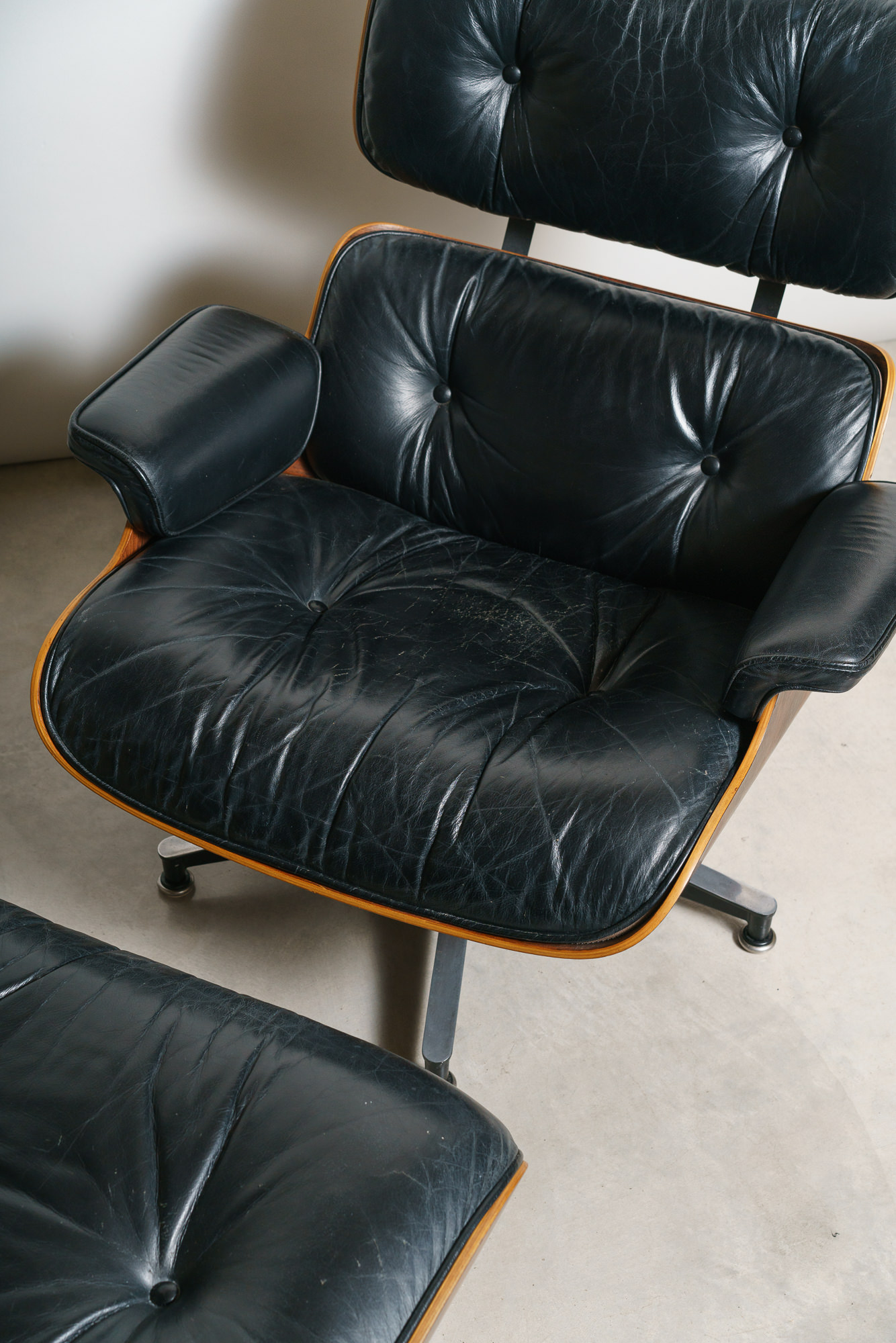 Eames Rosewood and Leather Lounge Chair - $4300