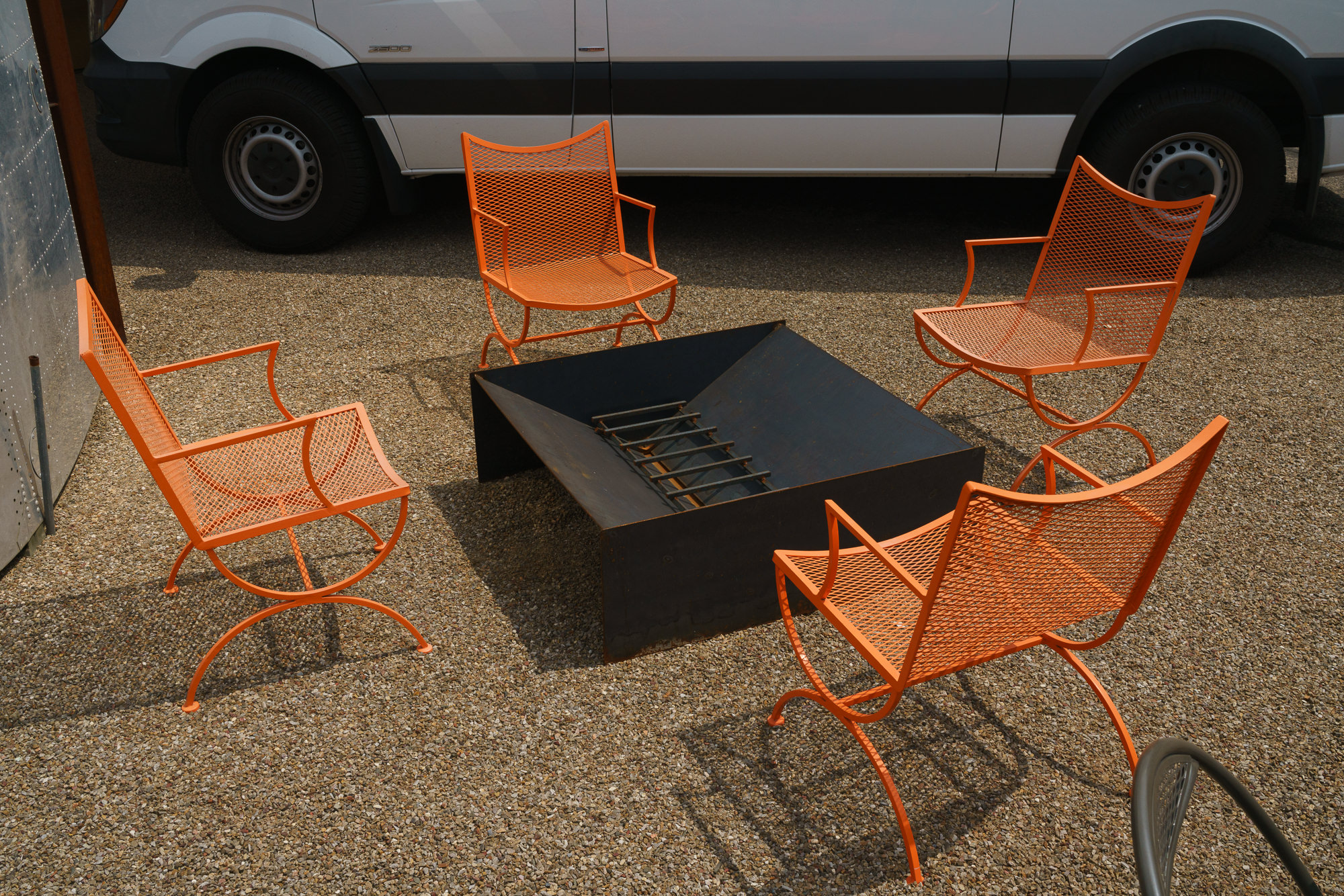 Expanded Steel Outdoor Armchairs - $400
