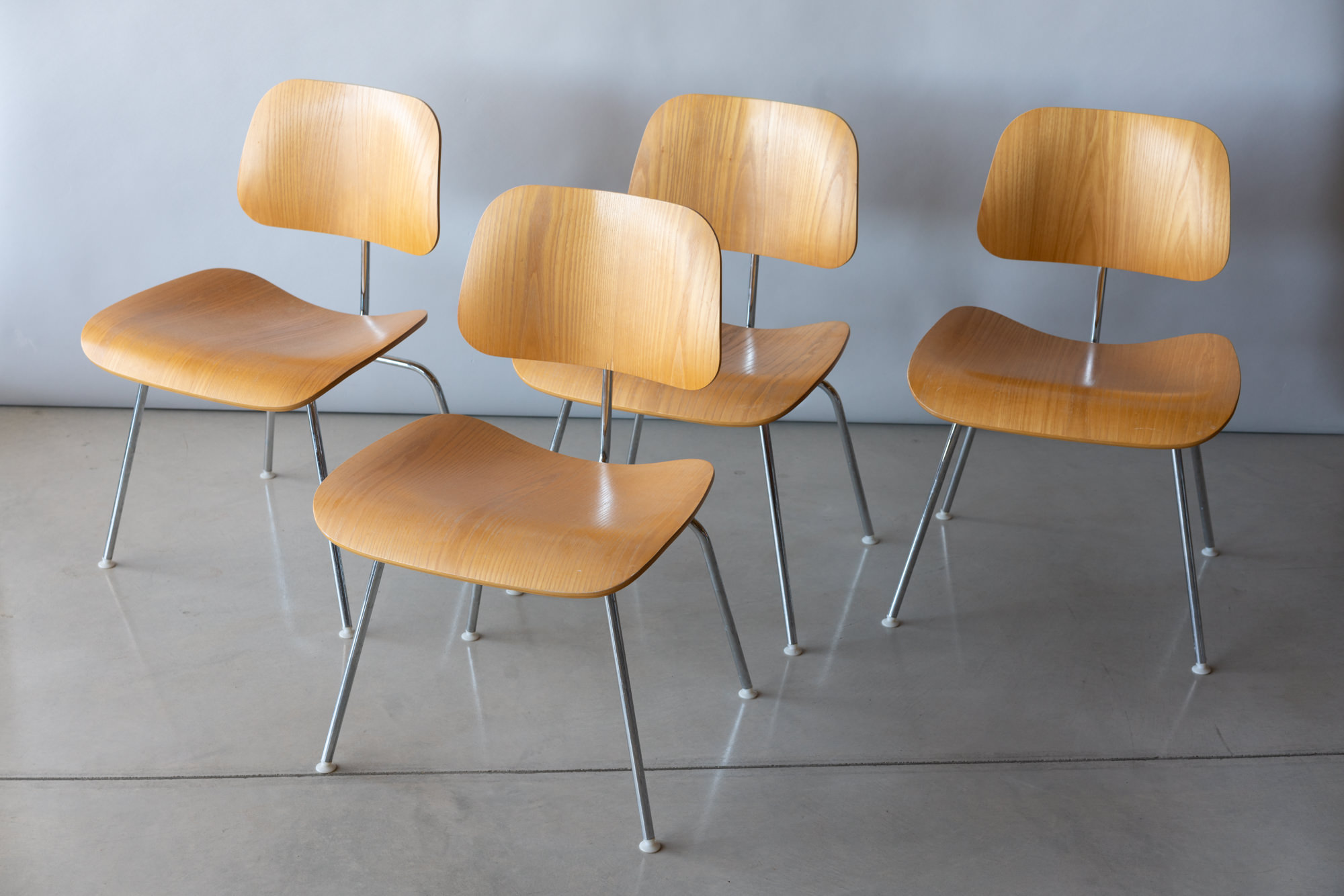 Set of 4 Eames Eames DCM Chairs