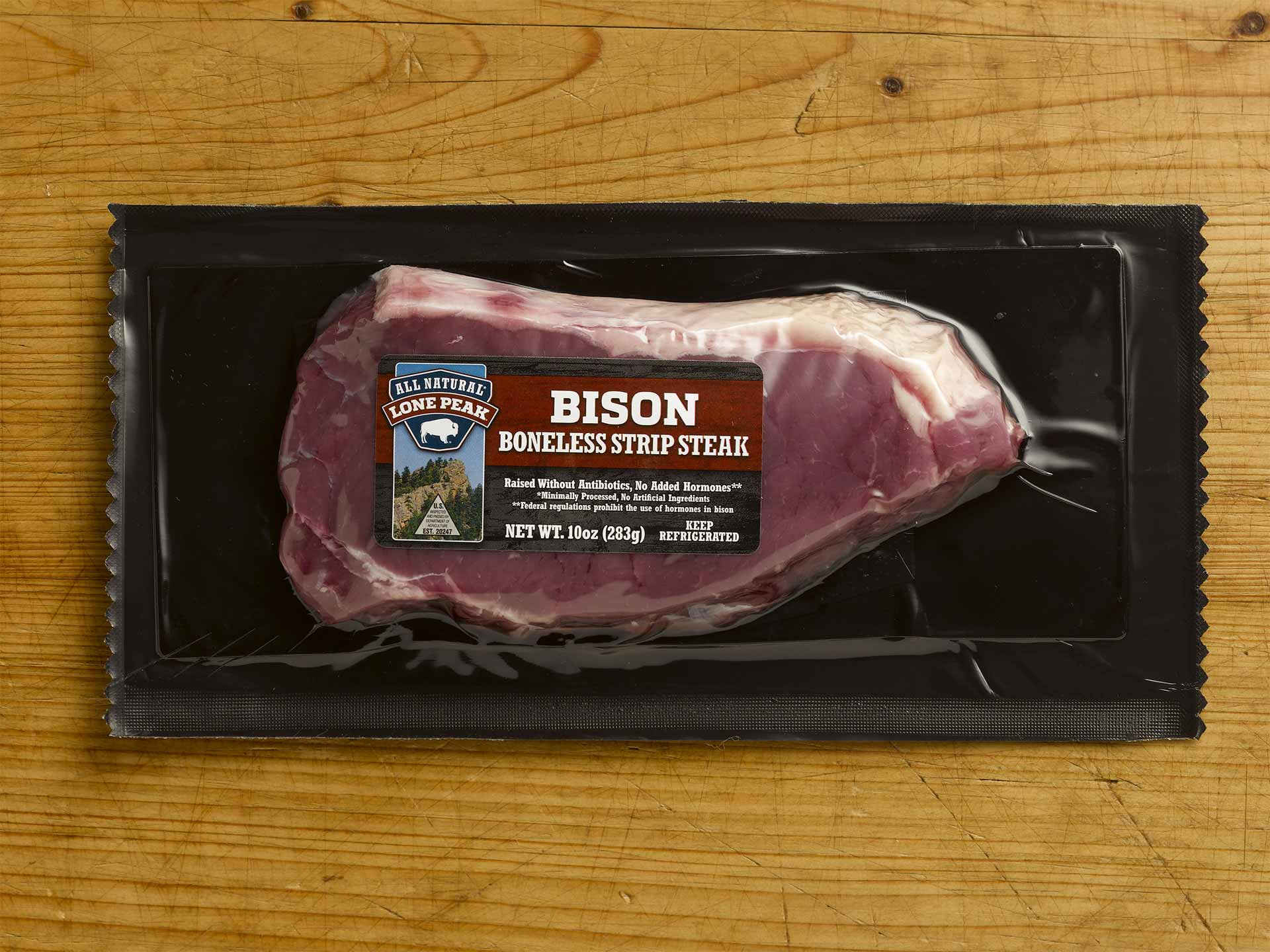 Bison Boneless Strip Steak