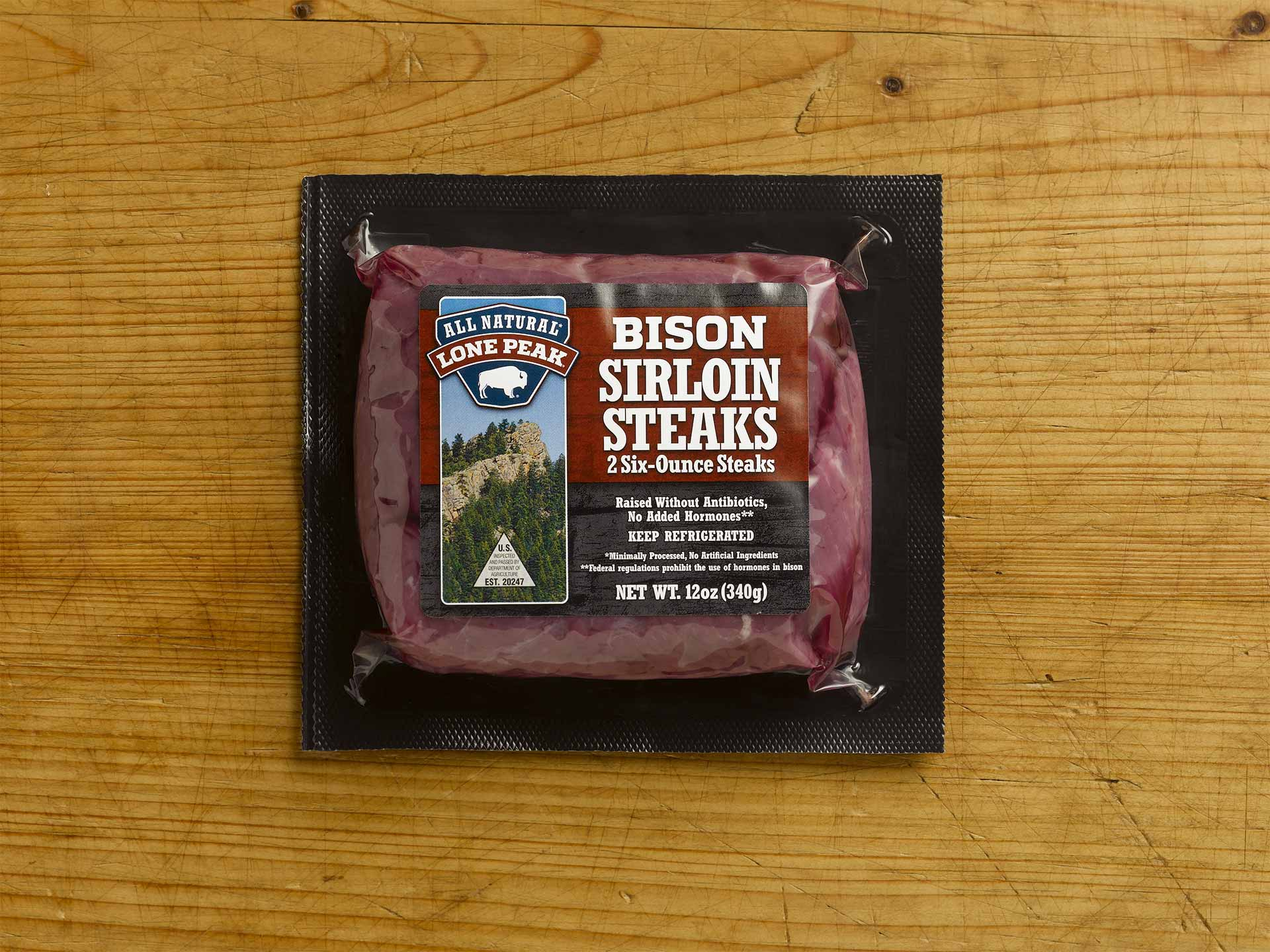 Bison Sirloin Steaks