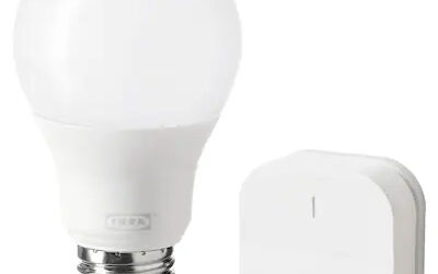 A Video Game Running on Ikea Smart Bulb