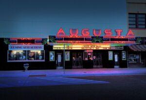 front view of augusta kansas movie theater