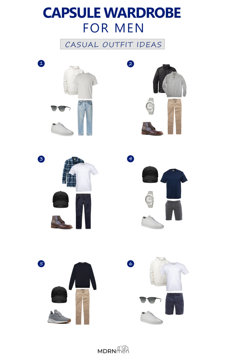 Capsule Wardrobe For Men Casual Outfit Ideas
