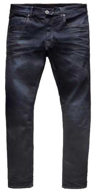 G-Star Raw Men's 3301 Tapered-Fit Pant In Visor Stretch Denim in Dark Aged