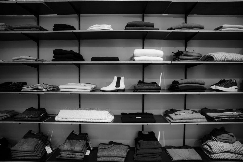 Clothing On Shelf