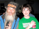 Our son meets Vermin Supreme.