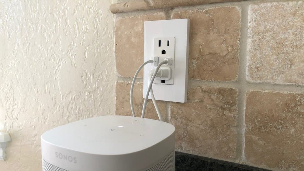 kitchen wall outlet featuring multiple built-in USB ports